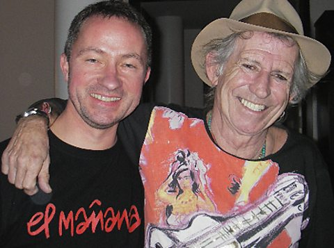 Keith Richards with Paul Sexton