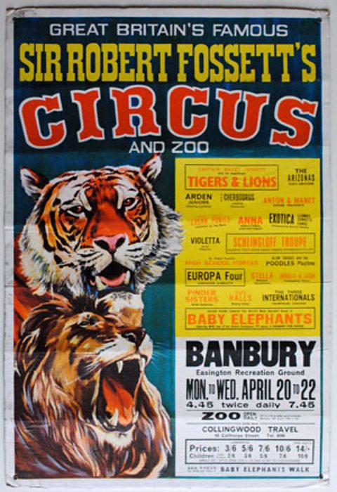 Sir Robert Fossett's Circus and Zoo poster