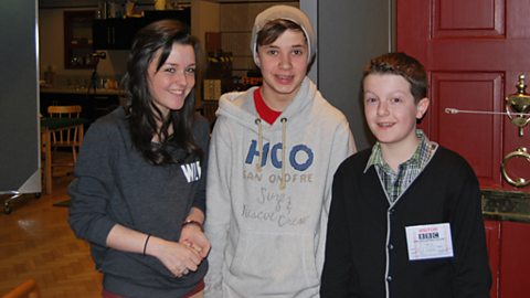 Shannon Flynn (Ruthie), Ceallach Spellman (Vincent) and Elliott Griffiths (Marcus)