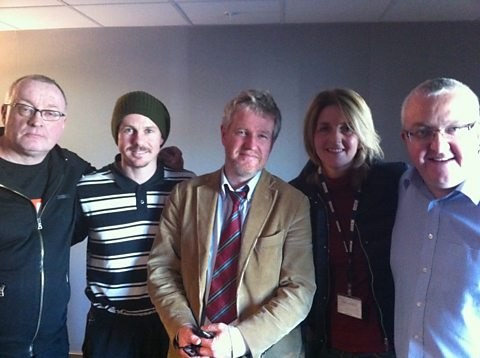 Stuart, Kieran McAnespie, Graham Spiers, Kaye Adams and Tam