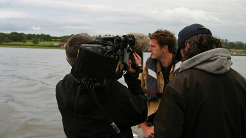 Filming at Ram's Island