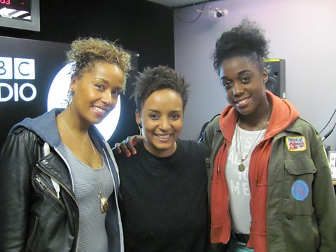 Adele with Lorraine Burroughs and Lashana Lynch