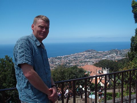 Tom looks over the capital, Funchal