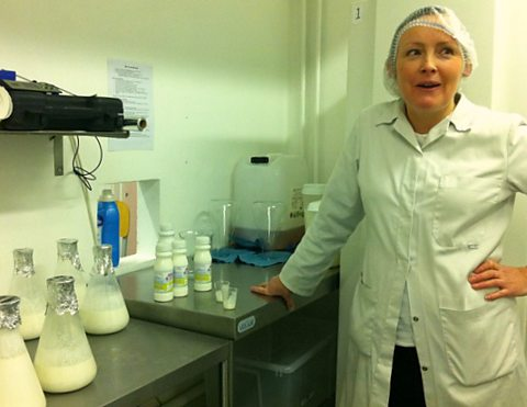 Deborah Carr in her kefir-making facility