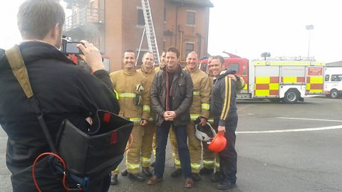 Matt and the fire fighters