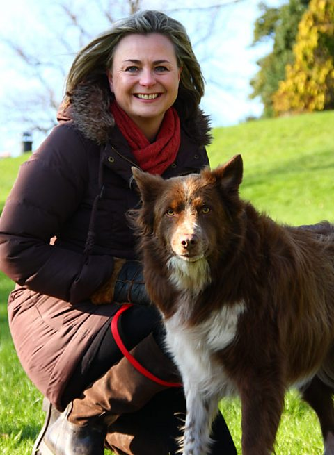 Philippa and her dog, Dave
