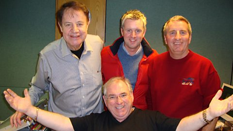 Hugo, Brendan Bowyers, Mike Denver and Willie Carty
