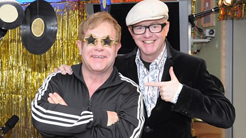 We had Elton John in the studio!