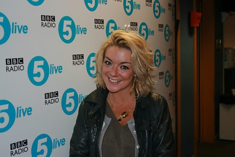 Sheridan Smith in the studio