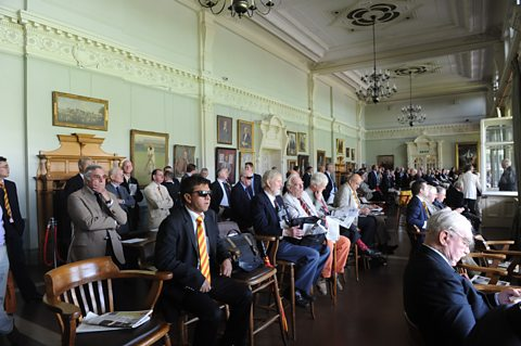 The Long Room at Lord's during a Test match