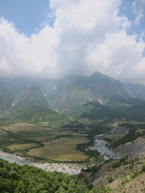 View from the road in South Albania
