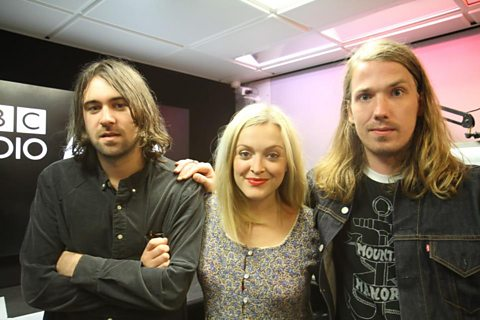 Fearne with Justin &amp; Arni from The Vaccines 