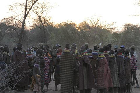 The Turkana Tribe at dusk