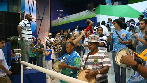 The first samba rehearsal of the 2009 carnival in sept 2009 at th rocinha samba school