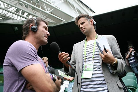 Pat Cash speaks to Richard Bacon