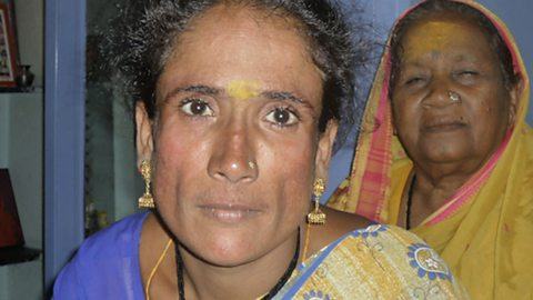 Photo: Anita and her mother in the Sangli red light district