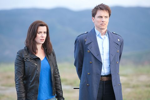 Photo: Gwen Cooper and Captain Jack Harkness