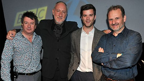 Pete Townshend, with 6music's Radcliffe and Maconie and Tom Ravenscroft