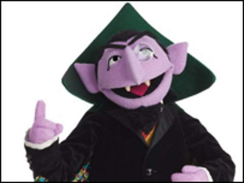 The Count von Count from Sesame Street