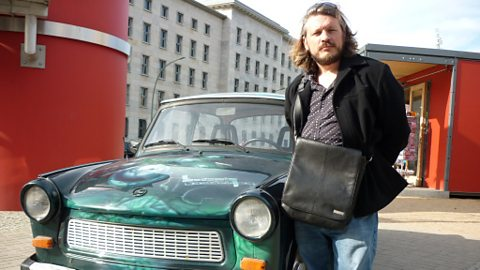 Richard with a Trabant