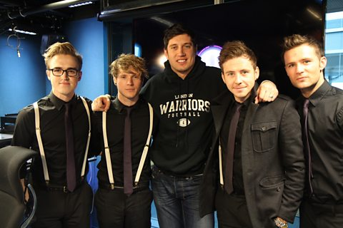Vernon with the McFly Boys