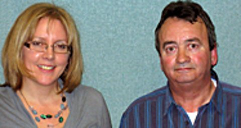 Carrie Gracie (left) with Gerry Conlon