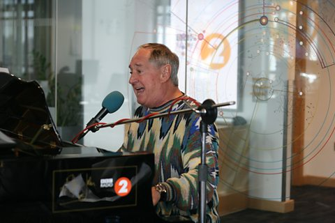 Neil Sedaka in session on Sir Elton John's piano