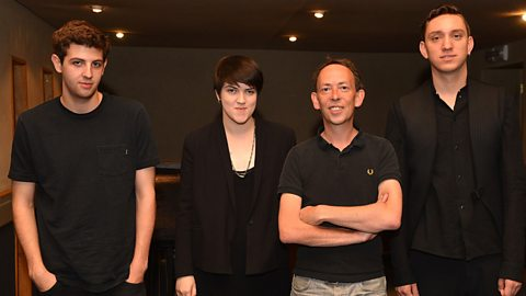 The xx at Maida Vale with Steve Lamacq