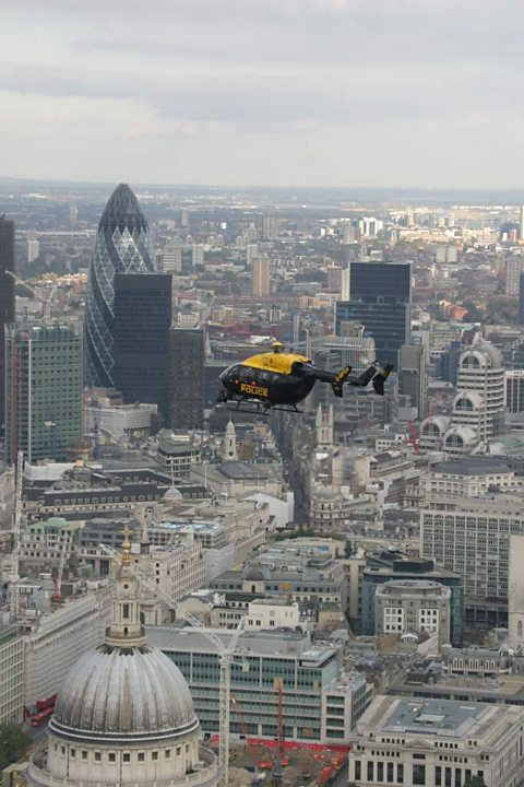 Day patrol over the Gerkin and St Paul's in The City