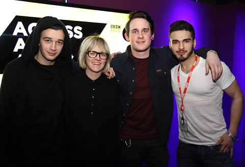 Matt from The 1975 with Edith, Shey from SKoA and Intern K