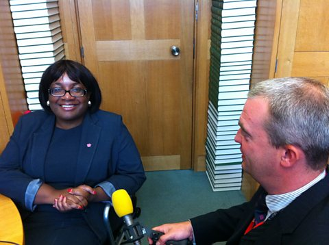 GILES WITH DIANE ABBOTT IN WESTMINSTER
