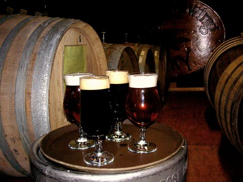 Barrel aged beers in CBC's cellar
