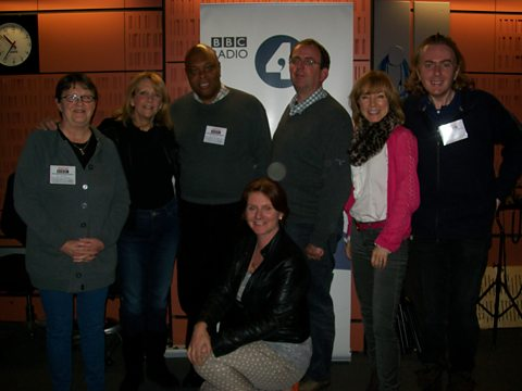 Sylvia Hillier, Jenni Evennett, Rev Courtney Stewart, Jackie Clunes, Richard, Sian and Rob Manuel