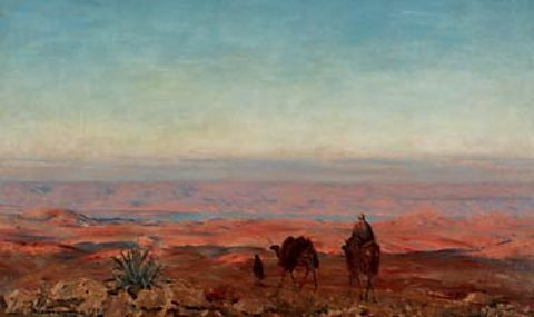 Ludwig Blum, Camels in the Judean Desert, 1943