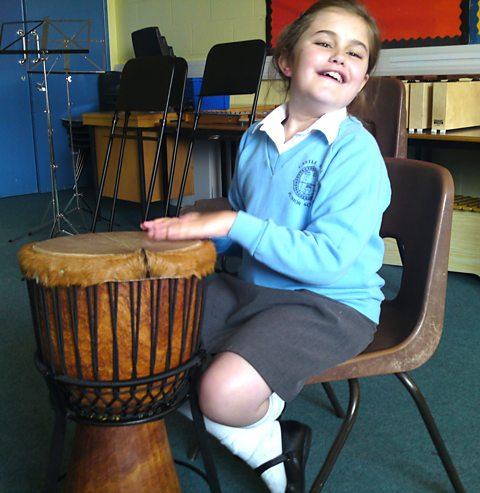 ...and Grace plays the drums!