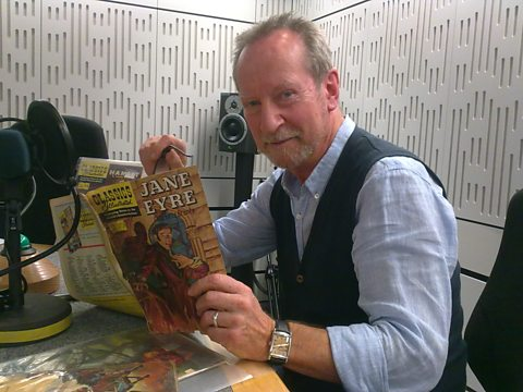 Bill Paterson with his original copy of Jane Eyre