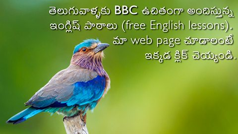 BBC Learning English - Telugu Home Page