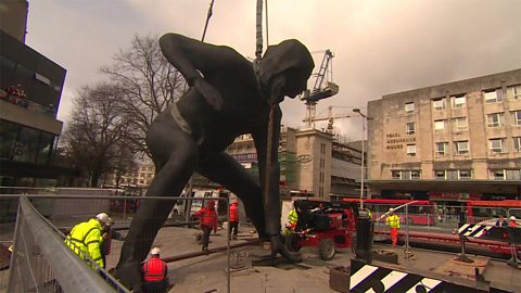 Britain's largest female sculpture 英国最大的女性雕塑