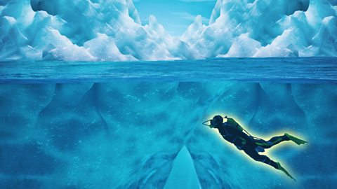 The woman who swims inside icebergs