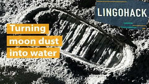 Turning moon dust into water