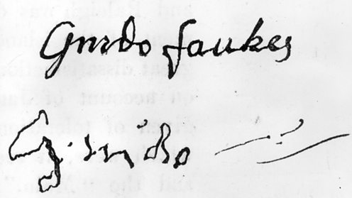 Guy Fawkes signature