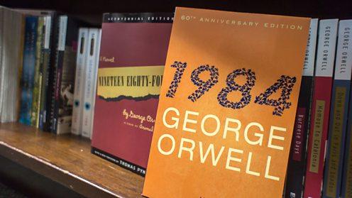 Bookshelf with 1984