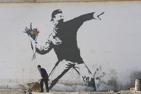 bbc iwonder how did banksy become the world 39 s most. Black Bedroom Furniture Sets. Home Design Ideas