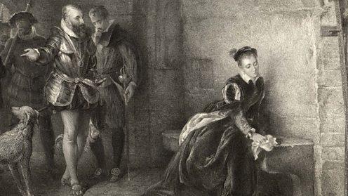 Elizabeth held prisoner in the Tower of London. (c) Mary Evans