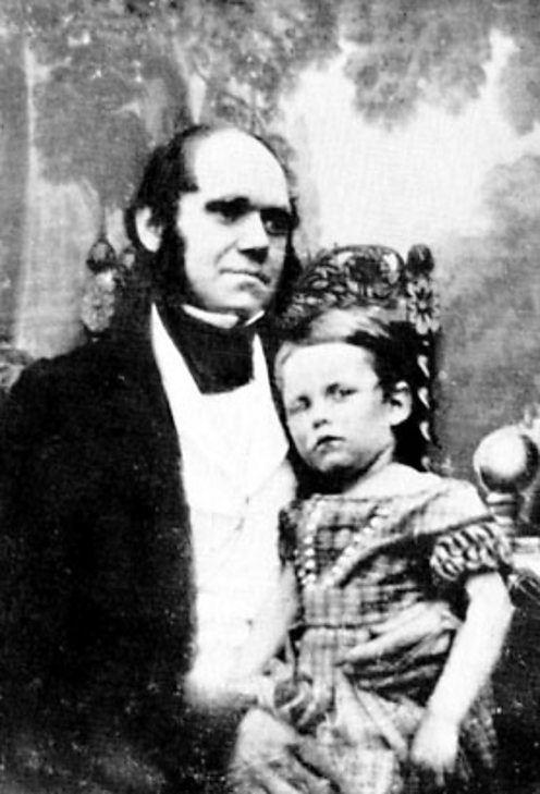 Charles Darwin and his son William
