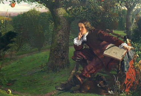 Newton and the apple. Source: BBC