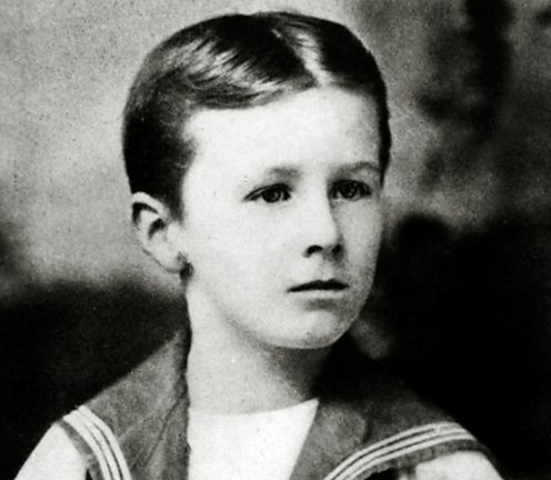 Franklin D Roosevelt pictured as a boy