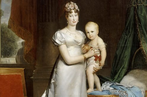 Napoleon's wife, Marie-Louise, with their son