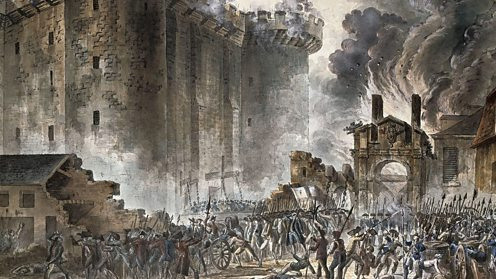 Storming of the Bastille in 1789