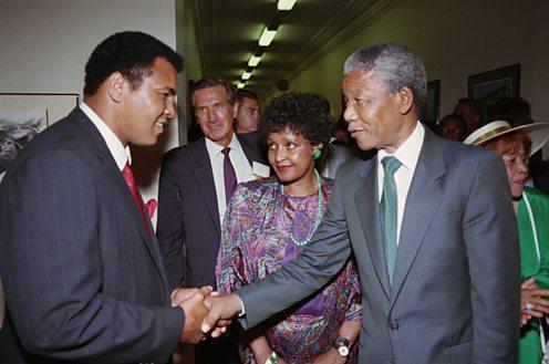 Muhammad Ali meets Nelson Mandela